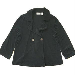 Travelers Jacket Sz 1 (M) Black Slinky Knit Cardi